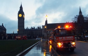 Easymix Concrete lorry at Parliament Square, London